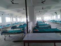 तयारी अवस्थामा रहेको कोभिड उपचार केन्द्रका शैया । फोटो : लोकराज ढकालको फेसबुकबाट ।