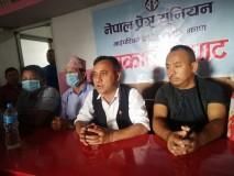 दमकमा आयोजित पत्रकार सम्मेलनमा बोल्दै काँग्रेस प्रवक्ता शर्मा ।